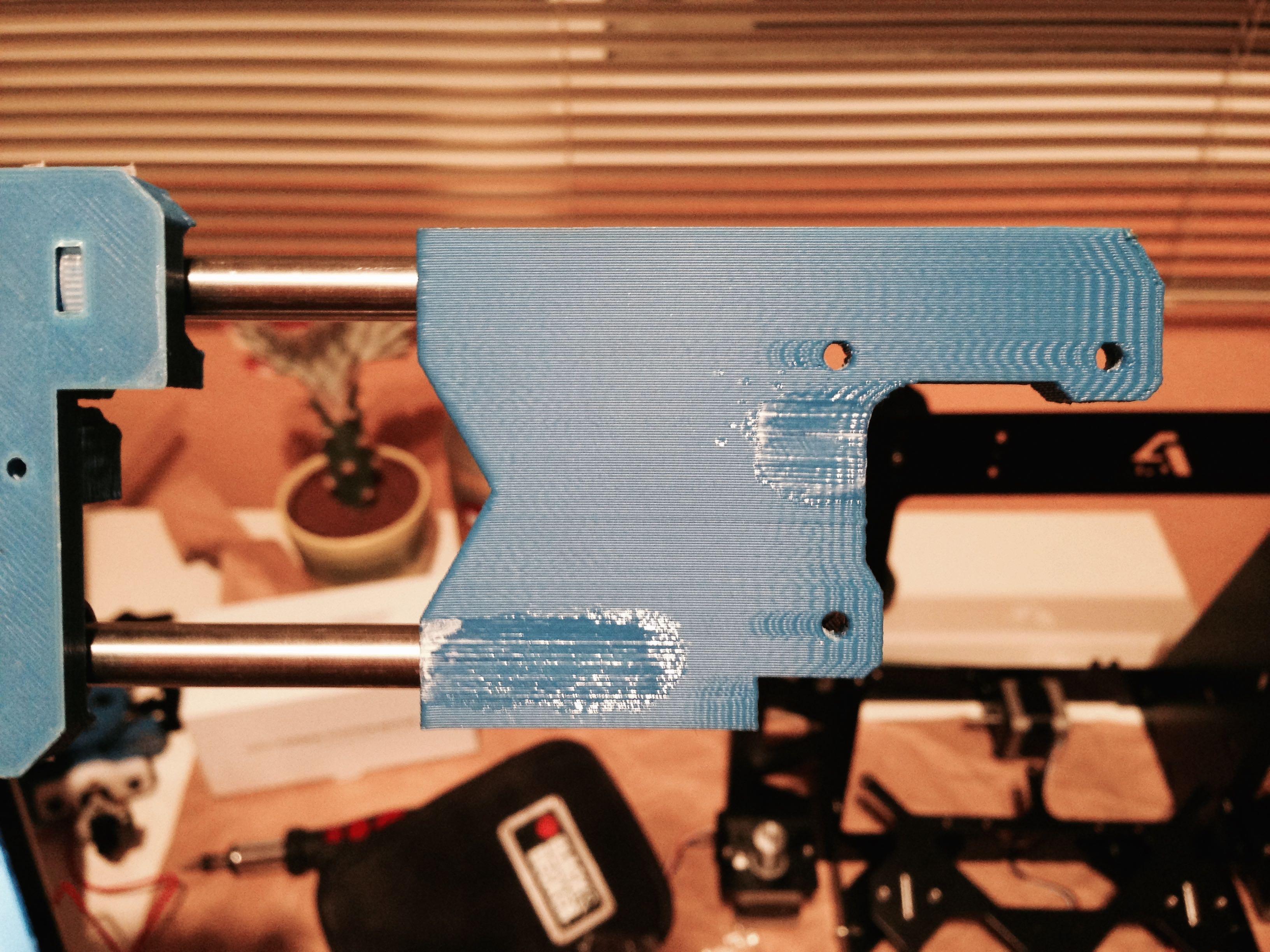Grietas en las piezas producidas durante el montaje